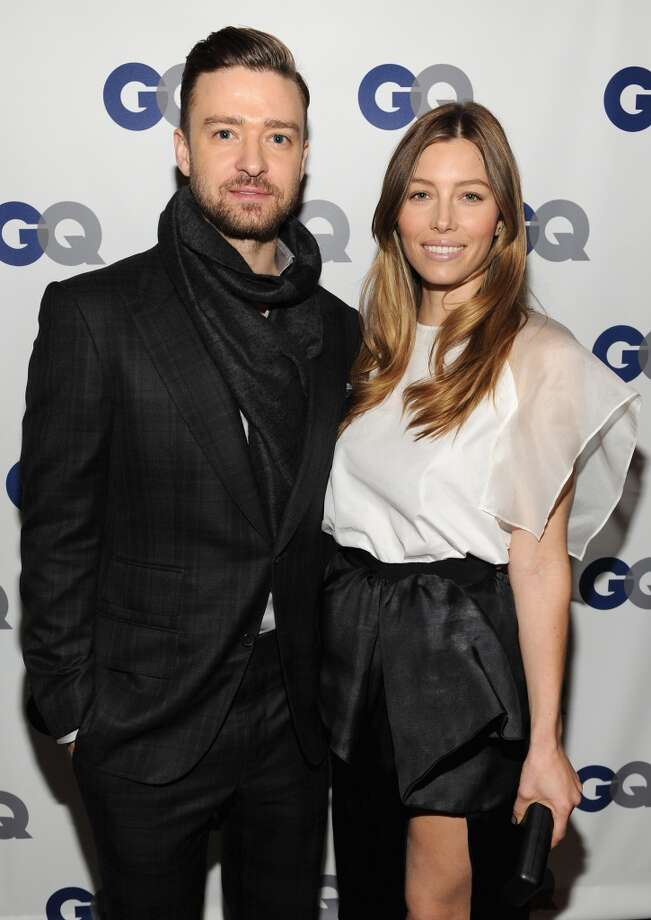 Musician/actor Justin Timberlake (L) and actress Jessica Biel attend the GQ Men of the Year dinner on November 11, 2013 in New York City. Photo: Kevin Mazur, Getty Images For GQ
