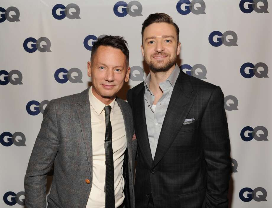 GQ editor-in-chief Jim Nelson (L) and musician/actor Justin Timberlake attend the GQ Men of the Year dinner on November 11, 2013 in New York City. Photo: Kevin Mazur, Getty Images For GQ
