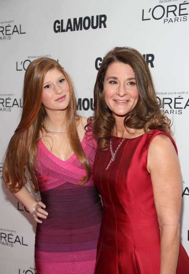 Melinda Gates (R) and Phoebe Adele Gates attend the Glamour Magazine 23rd annual Women Of The Year gala on November 11, 2013 in New York, United States. Photo: Rob Kim, Getty Images