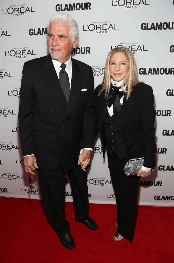 Barbra Streisand and James Brolin attend the Glamour Magazine 23rd annual Women Of The Year gala on November 11, 2013 in New York, United States. Photo: Rob Kim, Getty Images