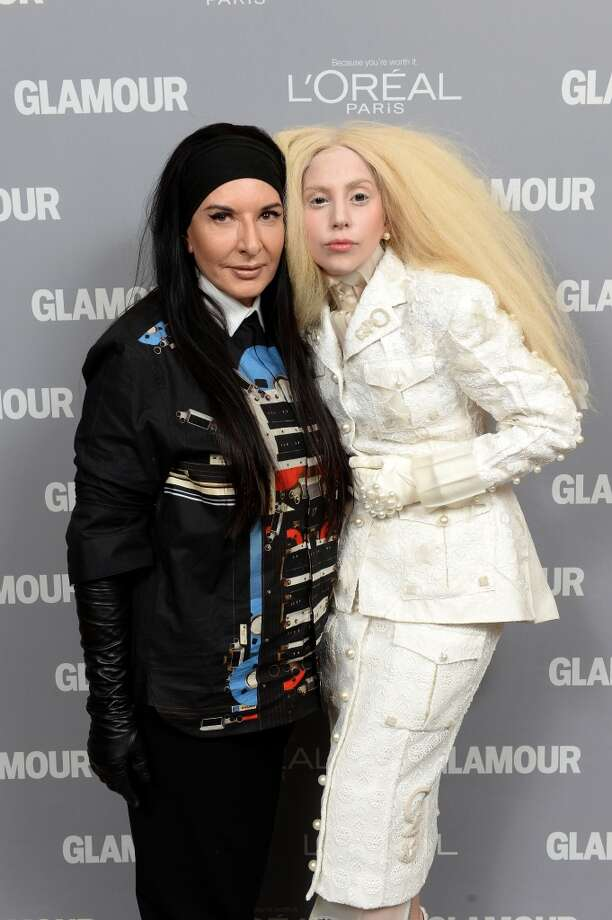 Marina Abramovic and Lady Gaga attend Glamour's 23rd annual Women of the Year awards on November 11, 2013 in New York City. Photo: Dimitrios Kambouris, Getty Images For Glamour