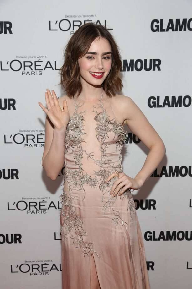 Lily Collins attends the Glamour Magazine 23rd annual Women Of The Year gala on November 11, 2013 in New York, United States. Photo: Rob Kim, Getty Images