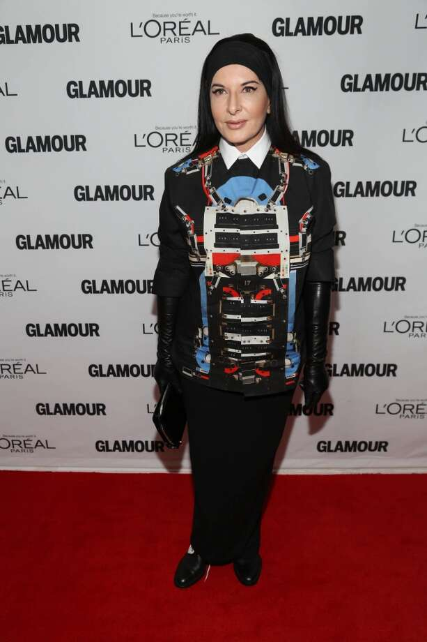 Marina Abramovic attends the Glamour Magazine 23rd annual Women Of The Year gala on November 11, 2013 in New York, United States. Photo: Rob Kim, Getty Images