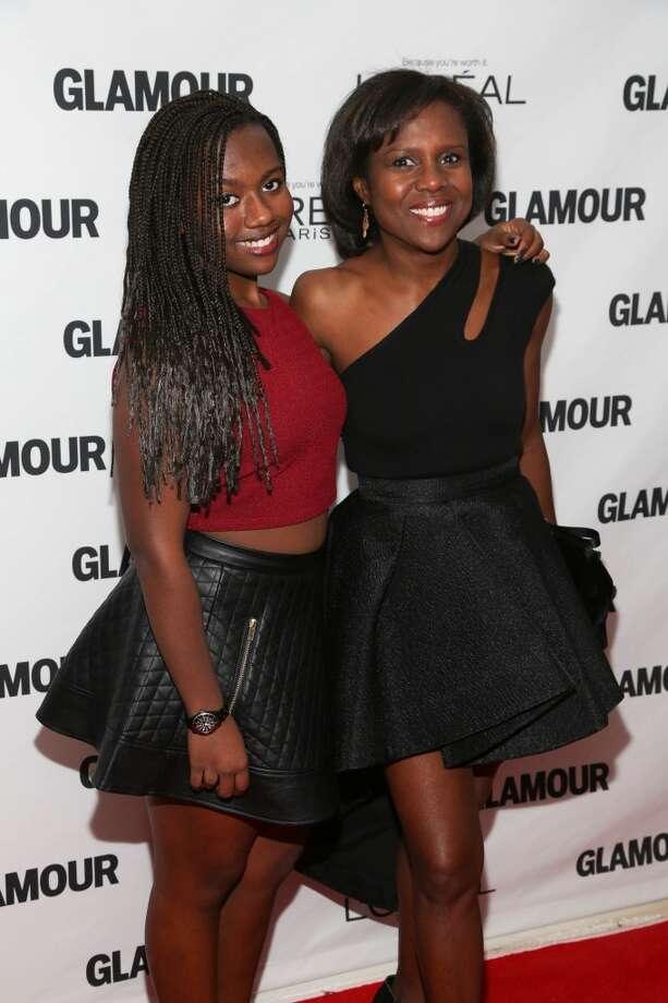 Deborah Roberts (R) and Leila Roker attend the Glamour Magazine 23rd annual Women Of The Year gala on November 11, 2013 in New York, United States. Photo: Rob Kim, Getty Images