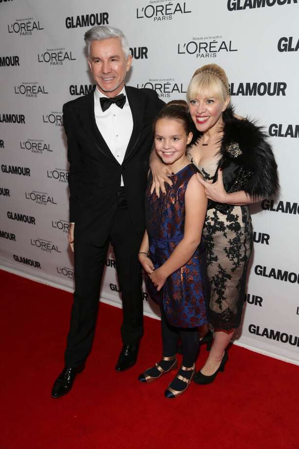 (L-R) Director Baz Luhrmann, Lillian Amanda Luhrmann, and production designer Catherine Martin attend the Glamour Magazine 23rd annual Women Of The Year gala on November 11, 2013 in New York, United States. Photo: Rob Kim, Getty Images