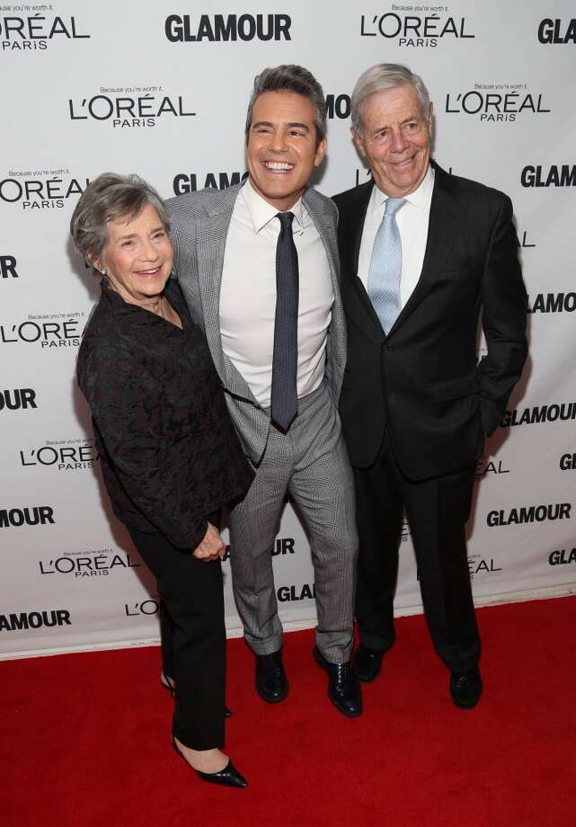 Andy Cohen (C) and family attend the Glamour Magazine 23rd annual Women Of The Year gala on November 11, 2013 in New York, United States. Photo: Rob Kim, Getty Images