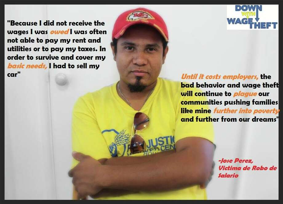 Jose Perez, champion of anti-wage theft action.