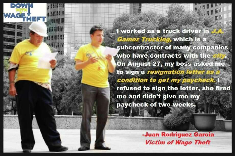 Juan Rodriguez Garcia had his wages stolen and now advocates for others who need their voices heard. Juan was fired without receiving his wages. Just one of many ways  employers steal wages in Houston.