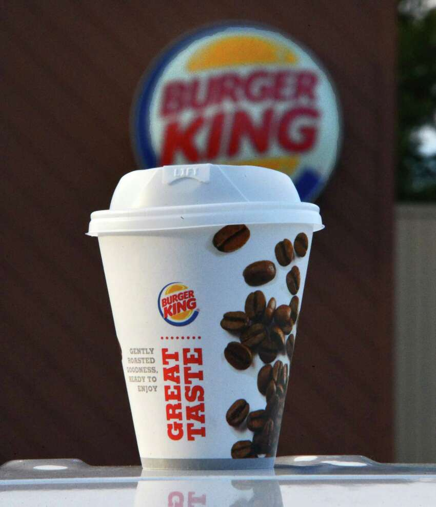 Coffee in a Styrofoam cup at Burger King on Central Avenue Tuesday Nov. 12, 2013, in Albany, NY. (John Carl D'Annibale / Times Union)