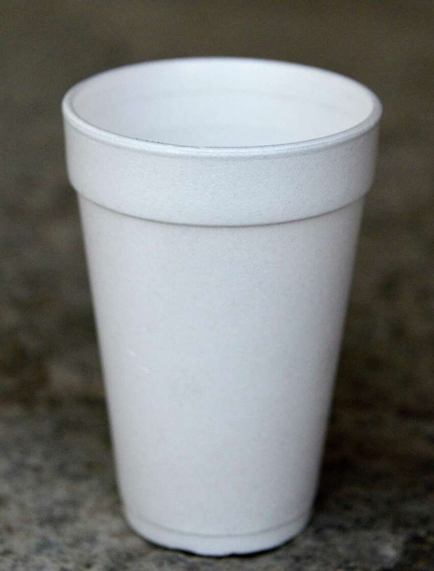 A generic Styrofoam cup Tuesday Nov. 12, 2013, in Colonie, NY. (John Carl D'Annibale / Times Union)