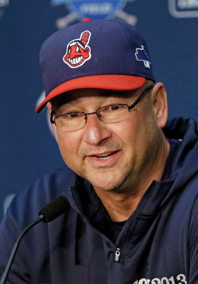 FILE - In this Oct. 1, 2013, file photo, Cleveland Indians manager Terry Francona answers questions during news conference before practice for the American League wild-card baseball game in Cleveland. Francona was named the AL manager of the year by the Baseball Writers' Association of America, Tuesday, Nov. 12, 2013. (AP Photo/Mark Duncan, File) Photo: Mark Duncan, STF / AP