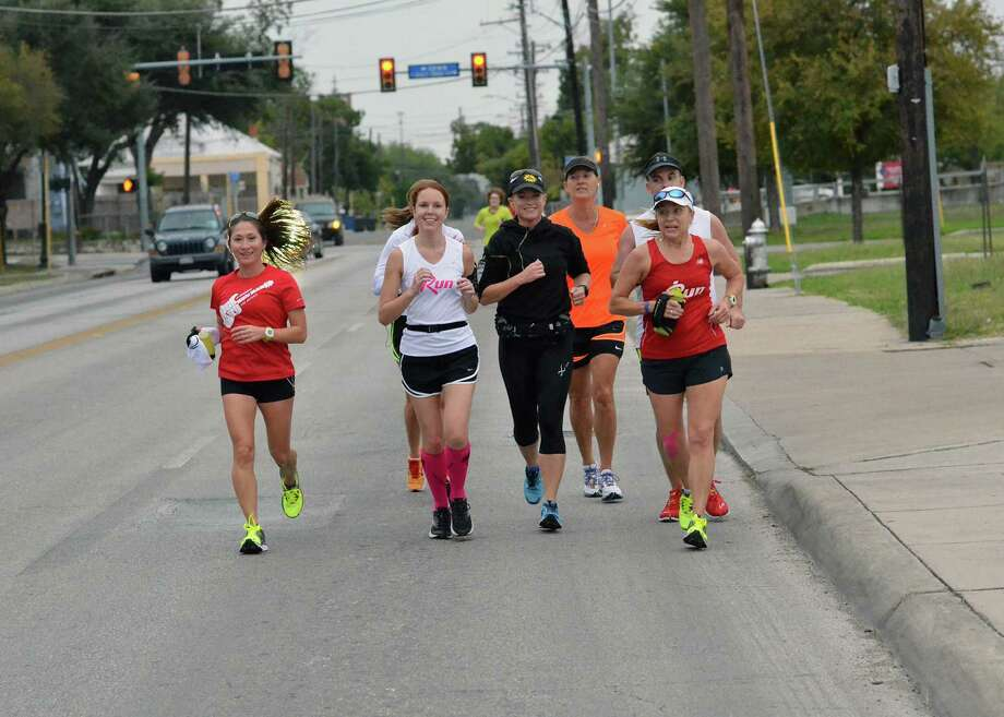 Athletes participating in Sunday's Rock 'n' Roll San Antonio Marathon will run a new course that begins at the intersection of Cherry and Commerce. Photo: LeAnna Kosub / San Antonio Express-News