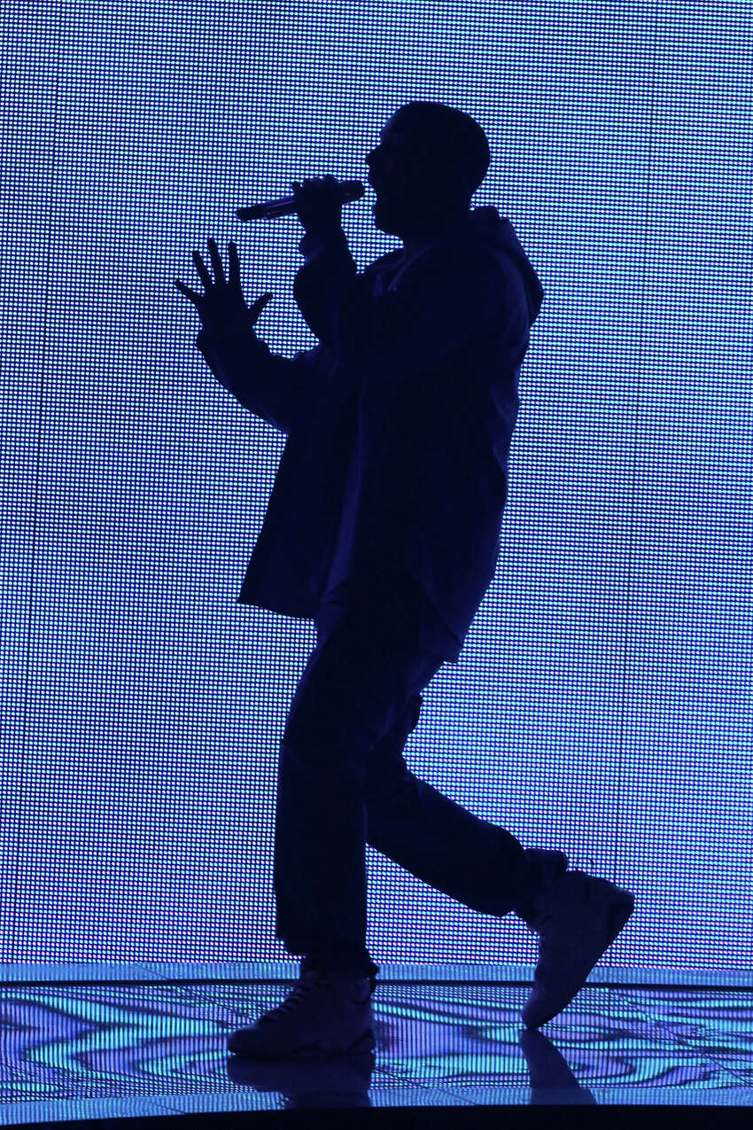 Rapper Drake performs at the Barclays Center, on Monday, Oct. 28, 2013, in New York.