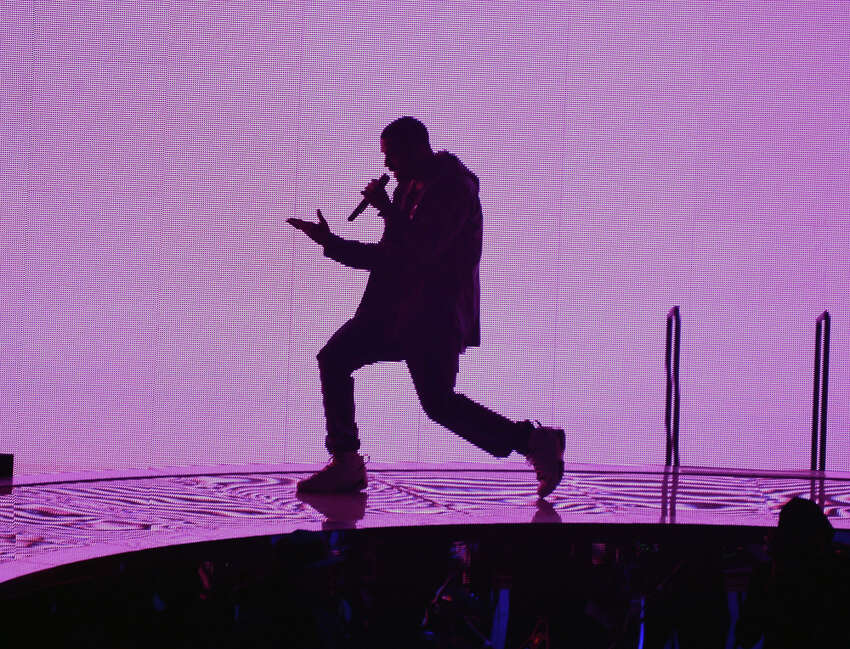 Singer/rapper Drake performs at Barclays Center on October 28, 2013 in New York City.