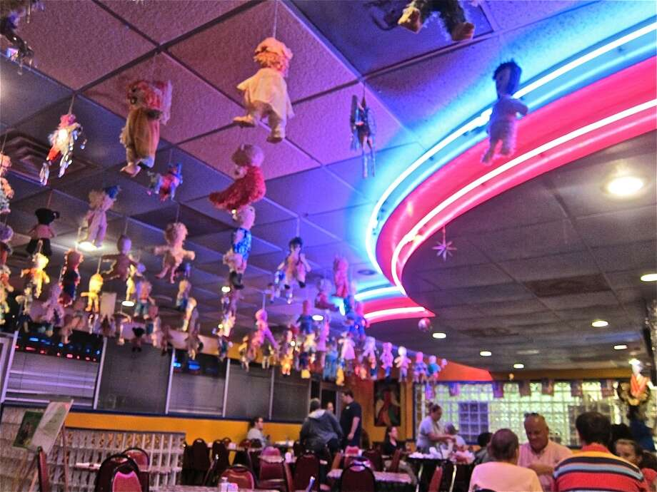 Neon and pinatas at Lupita's Mexican restaurant in Sugar Land. Photo: Alison Cook