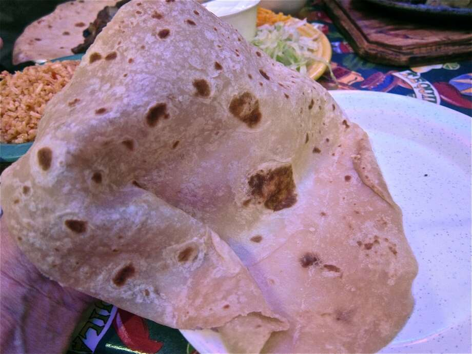 Handmade flour tortillas at Lupita's in Sugar Land. Photo: Alison Cook