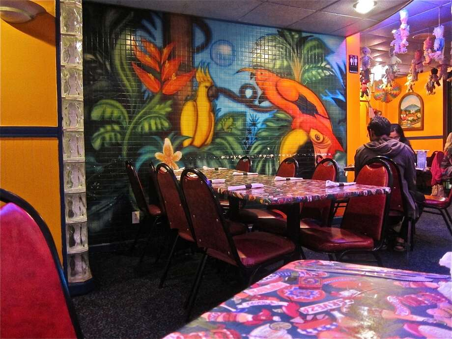 Tropical mural at Lupita's Mexican restaurant in Sugar Land. Photo: Alison Cook
