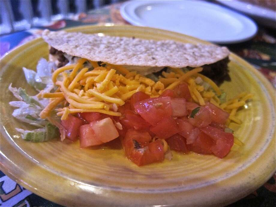 Hard-shell beef  taco at Lupita's in Sugar Land. Photo: Alison Cook