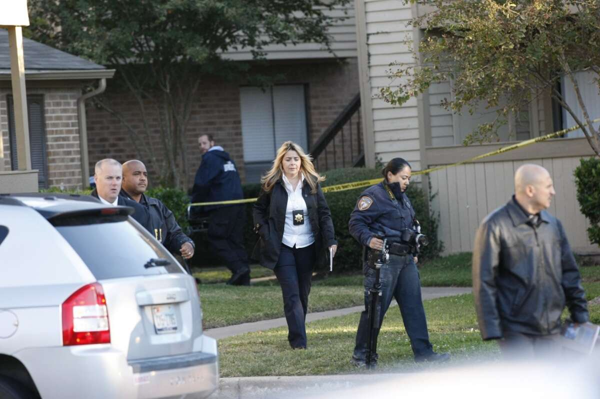 Three gunmen are being sought in the home invasion and death of Jesus Escobedo, 38, about 12:50 a.m. Wednesday at 2031 Westborough near Prospect Glen in the Katy area, according to the Harris County Sheriff's Office.