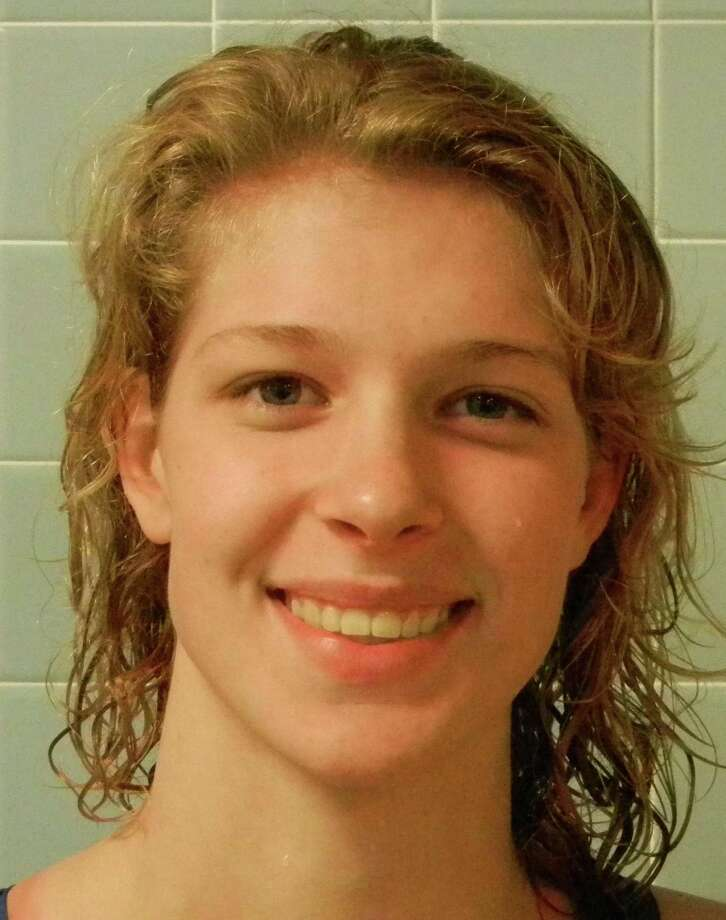 Fairfield Warde senior Chelsea Pond placed third in the 50-yard freestyle and seventh in the 100-yard freestyle on Tuesday, Nov. 12 at the CIAC Class L girls swimming and diving championships at Wesleyan University in Middletown. Photo: Reid L. Walmark / Fairfield Citizen