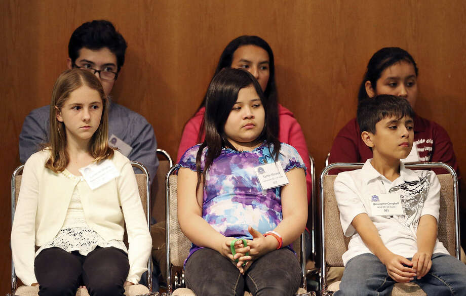 Middle school students take part in the Education Service Center Region 20 Spanish Spelling Bee on Nov. 9 at the Frederick E. Maples, Jr. Conference Center. Photo: Photos By Edward A. Ornelas / San Antonio Express-News