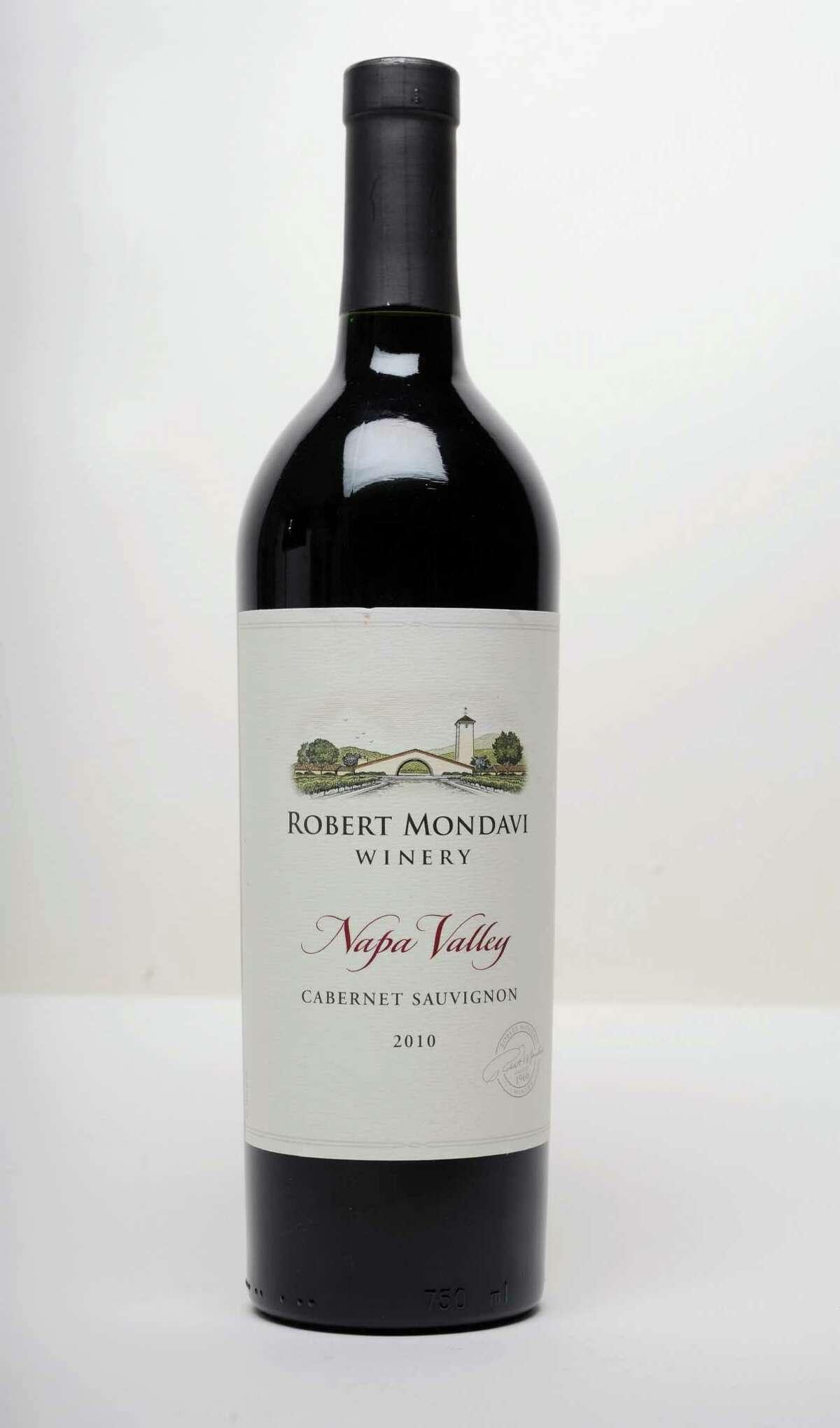 Robert Mondavi Winery Napa Valley Cabernet Sauvignon 2010 wine on Thursday, Sept. 26, 2013 in Colonie, N.Y. (Lori Van Buren / Times Union)
