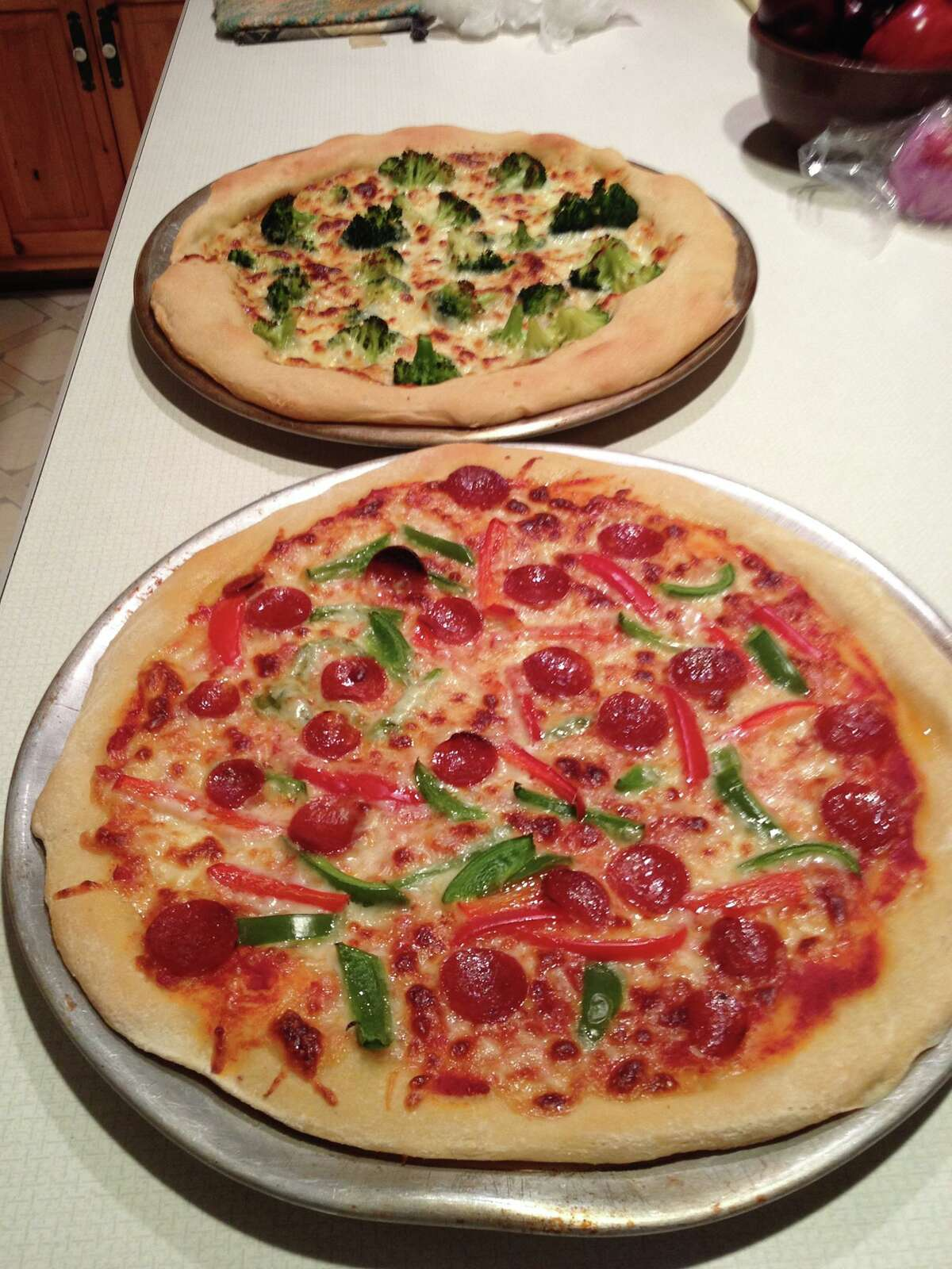 """Susan Demarest says her sister-in-law, Joanne, """"cooked the best pizza and shared with us girls for a weekend treat."""""""