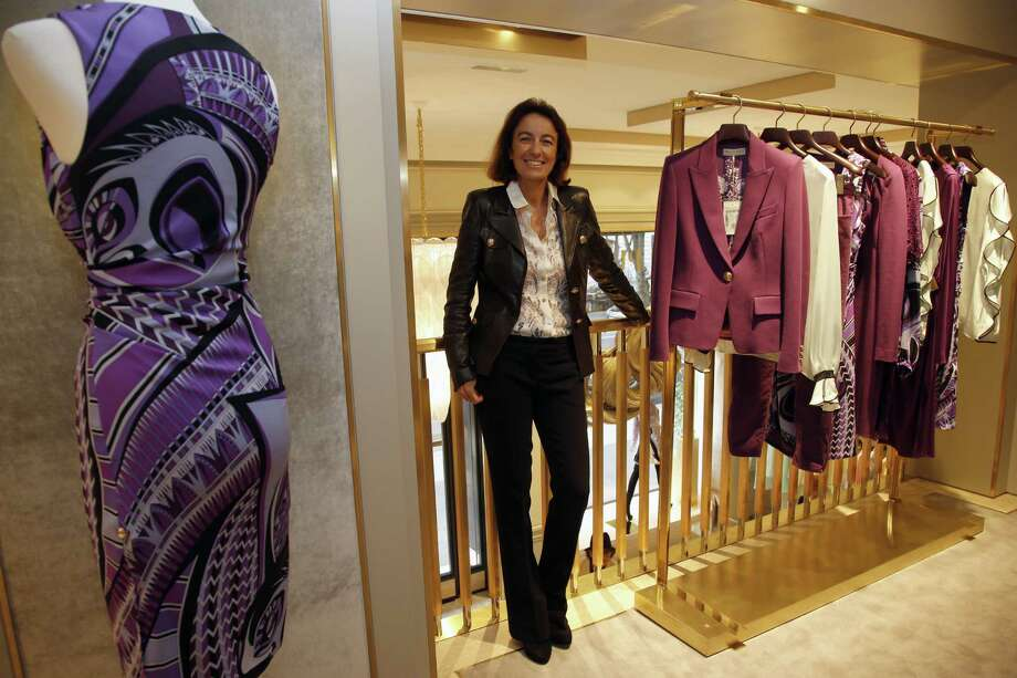 Emilio Pucci's daughter, Laudomia Pucci, revels in the newest Emilio Pucci's boutique situated along Avenue Montaigne in Paris. The Florentine brand has started an expansion campaign, opening up boutiques across the world's fashion capitals. Photo: Photos By Francois Mori / Associated Press