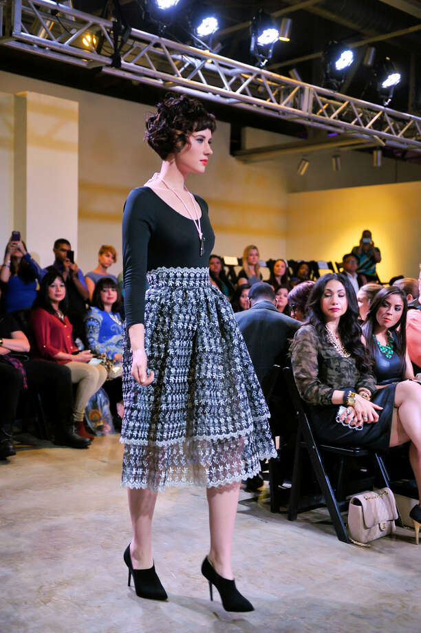 """Models show the creations of Blanquita Sullivan (top inset), who won highest honors for her """"Secret Garden"""" collection at San Antonio Fashion Week's Current Collections show and competition. Photo: Photos By Robin Jerstad / For The Express-News"""