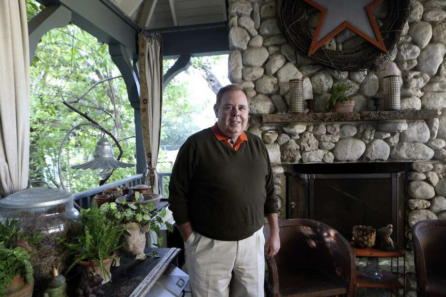 John Bloodsworth sees potential in discarded items when others might not.  The items have pride of place in his home. Photo: Helen L. Montoya / San Antonio Express-News