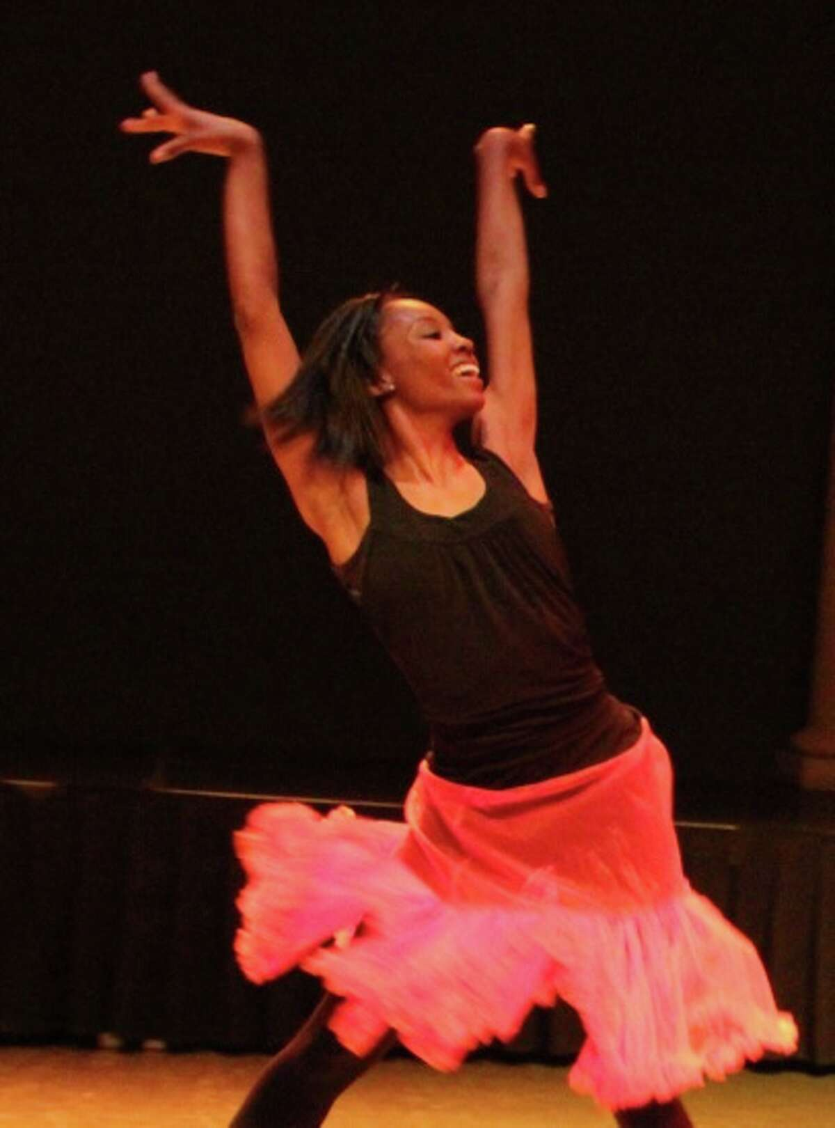 """Marcia Evans Burns, a member of the Dance & BMore troupe, performing in """"Send Me"""""""