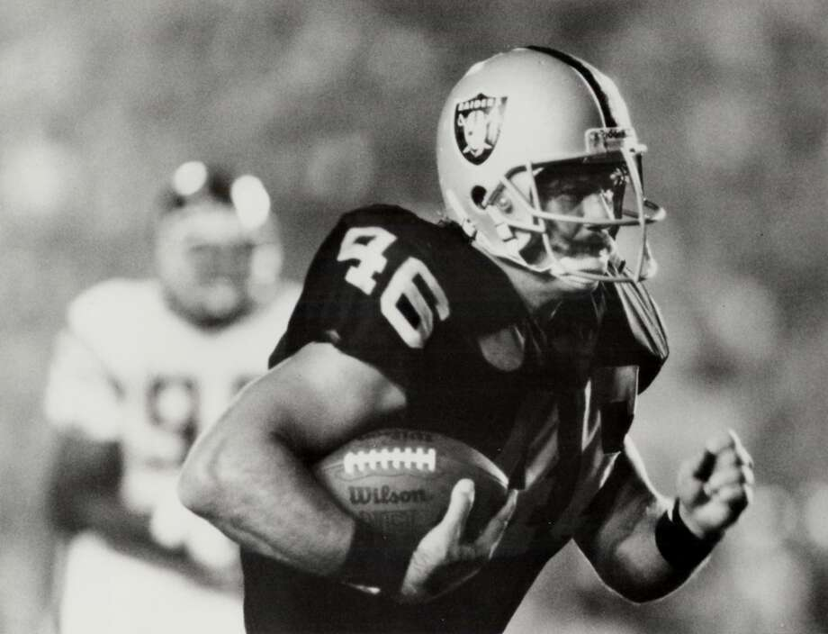 A Chronicle file photo of Todd Christensen during his playing days with the Raiders. Photo: SFC