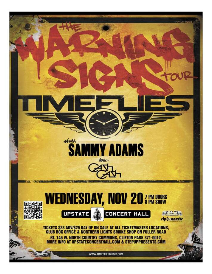 See TIMEFLIES with guests Sammy Adams and Cash Cash at Upstate Concert Hall on Wednesday, November 20th. Doors open at 7:00, show starts at 8:00.