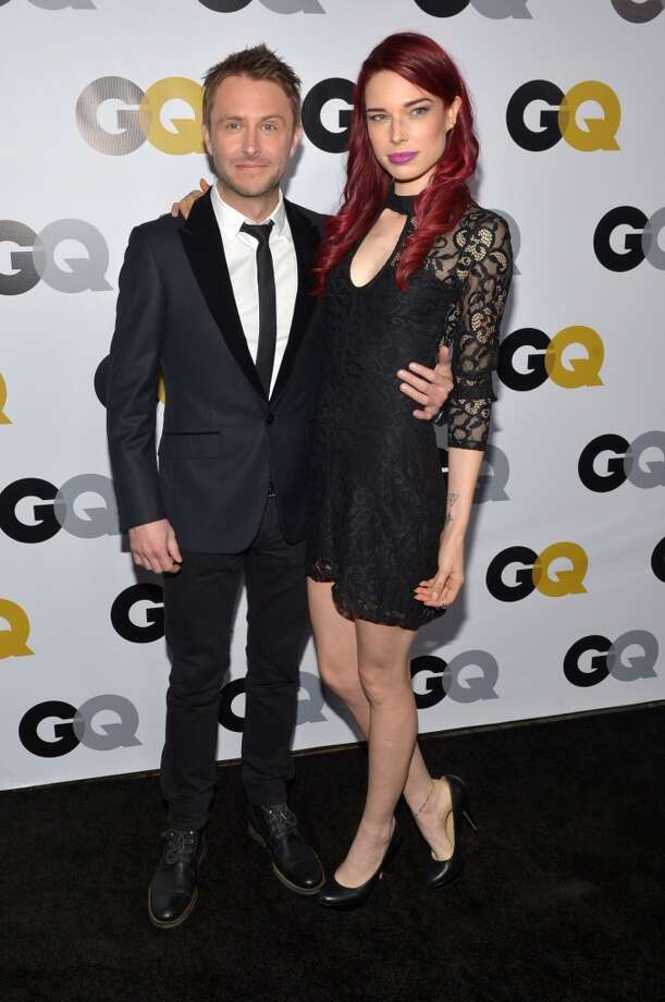 """FILE-- Actors Chris Hardwick and Chloe Dykstra attend the GQ Men Of The Year Party at The Ebell Club of Los Angeles on Nov. 12, 2013 in Los Angeles.Dykstra on Thursday unloaded a long and emotional essay accusing an unnamed ex-boyfriend of """"long-term abuse"""" and career blacklisting. Photo: Michael Buckner, Getty Images For GQ"""