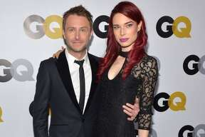 Actors Chris Hardwick and Chloe Dykstra attend the GQ Men Of The Year Party at The Ebell Club of Los Angeles on November 12, 2013 in Los Angeles, California.