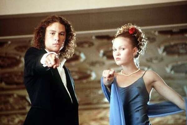 10 Things I Hate About You    This 1999 teen comedy starred Julia Stiles and a then unknown Heath Ledger.
