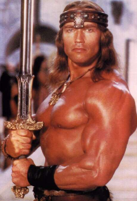 Conan the BarbarianThe 1982 film based on stories by Robert E. Howard, was Arnold Schwarzenegger's breakout role, and co-starred James Earl Jones.
