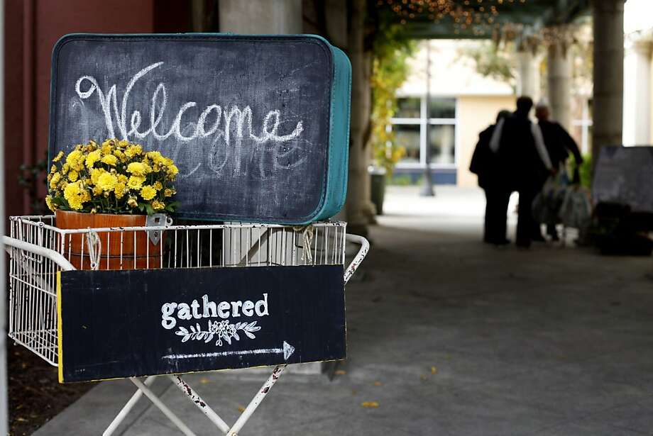 Customers are welcomed to the Gathered store, once occupied by the Red Paprika shop. Photo: Lacy Atkins, The Chronicle