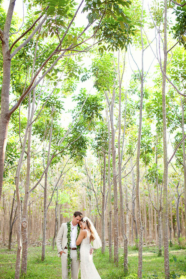 Na 'Āina Kai Botanical Gardens' unique forest venues include a  tropical canopy of wild trees and a plantation with 26 species of hardwood hardwood specimens such as teak, mahogany and  zebra wood. Photo: © Sealight Studios / ©sealightstudios