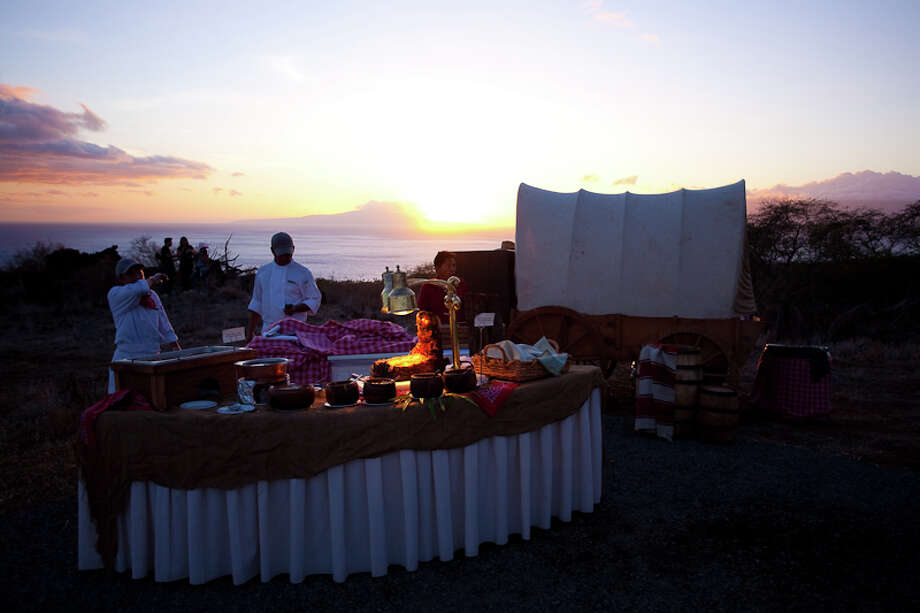 Makena Beach & Golf Resort's new Makena Ranch venue can host banquets and receptions, not just barbecues. Photo: Makena Beach & Golf Resort