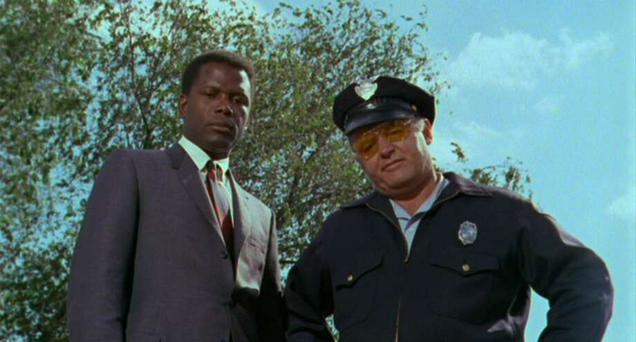In the Heat of the Night  The 1967 film starred Sidney Poitier as a Philadelphia cop who investigates a murder in a racist small town in Mississippi. Rod Steiger co-starred as Sparta, MS chief of police.