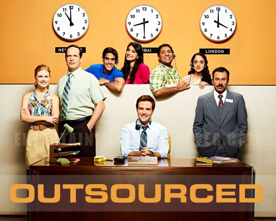 Outsourced  The ill-conceived 2010 NBC sitcom lasted for only one season, and came under fire as being culturally insensitive.