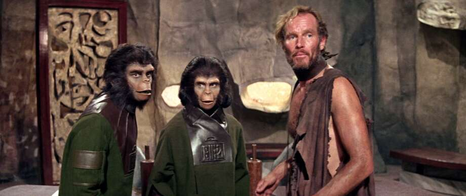 Planet of the ApesThe 1968 sci-fi film starring Charlton Heston became an instant classic, spawning multiple sequels and a remake.