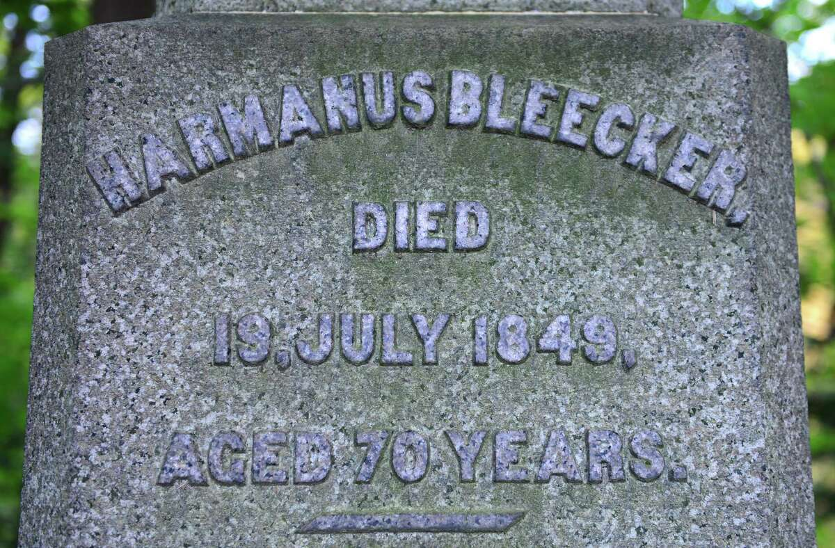 Harmanus Bleecker was a member of Congress and an ambassador to the Netherlands. He left $80,000 to the city of Albany. His grave overlooks the gorge in section 3 of Albany Rural Cemetery. (Will Waldron/Times Union)
