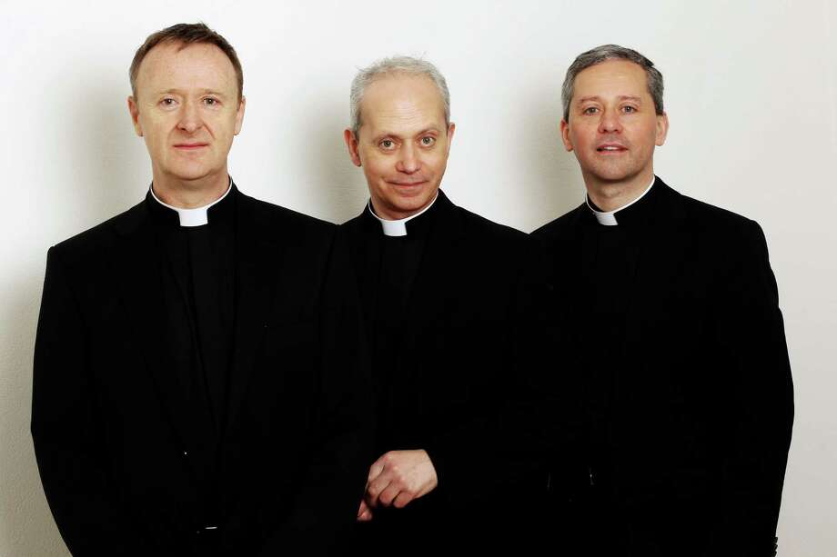 The Priests -- the Revs. David Delargy, Eugene O'Hagan and Martin O'Hagan -- perform at the Palace Theater in Waterbury on Friday, Nov. 22. Photo: Contributed Photo / Connecticut Post Contributed
