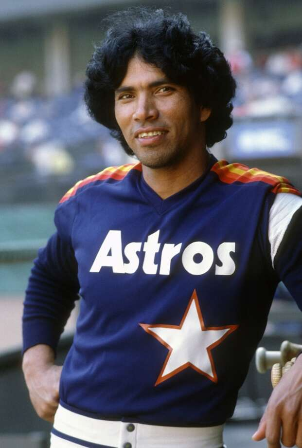 Outfielder Jose Cruz #25 of the Houston Astros smiles for the camera in this portrait during an Major League Baseball game circa 1975. Cruz played for the Astros  from 1975-87. (Photo by Focus on Sport/Getty Images) Photo: Focus On Sport, Getty Images