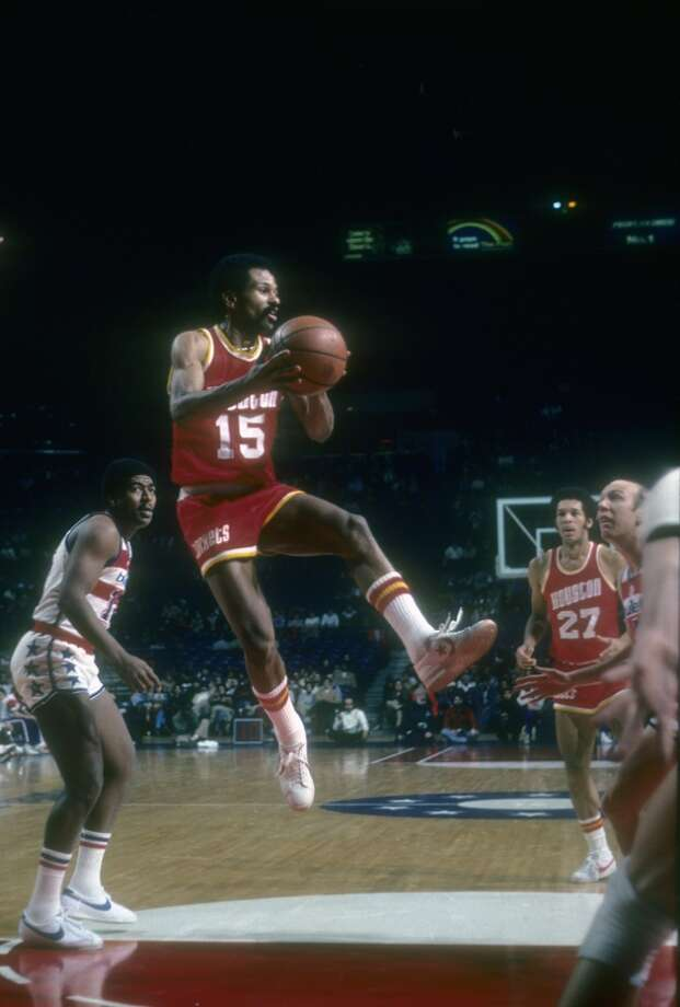 John Lucas #15 of the Houston Rockets in action against the Washington Bullets during an NBA basketball game circa 1977 at the Baltimore Civic Center in Baltimore, Maryland. Lucas played for the Rockets from 1976-1978, 1984-1986 and 1989-90. (Photo by Focus on Sport/Getty Images) Photo: Focus On Sport, Getty Images