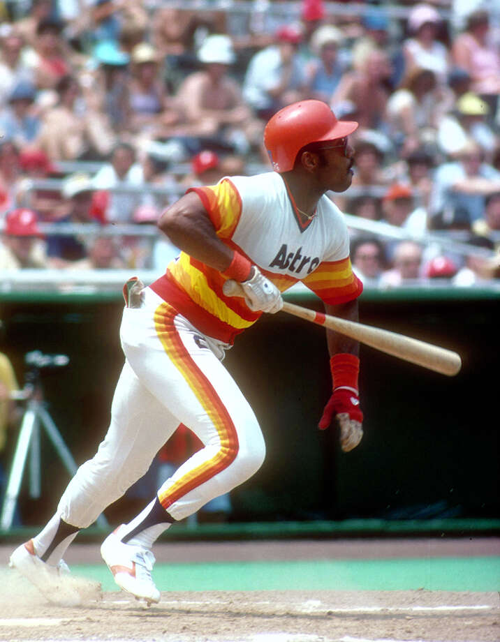 Bob Watson #27 of the Houston Astros bats against the Philadelphia Phillies during an Major League Baseball game circa 1978 at Veteran Stadium in Philadelphia, Pennsylvania. Watson played for the Astros from 1966-79. (Photo by Focus on Sport/Getty Images) Photo: Focus On Sport, Getty Images / 1978 Focus on Sport