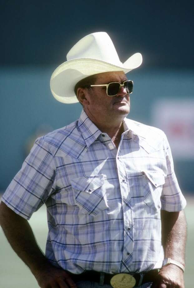 Head Coach Bum Phillips of the Houston Oilers in this portrait on the field circa late 1970's before an NFL football game. Phillips was the head coach of the Oilers from 1975-80. (Photo by Focus on Sport/Getty Images) Photo: Focus On Sport, Getty Images