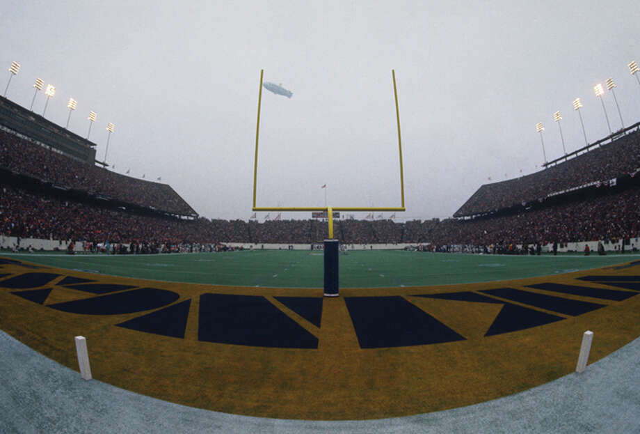 A wide angle shot shows Rice Stadium during Super Bowl VIII featuring the Miami Dolphins and the Minnesota Vikings on January 13, 1974 in Houston, Texas. The Dolphins defeated the Vikings 24-7. (Photo by Focus on Sport/Getty Images) Photo: Focus On Sport, Focus On Sport/Getty Images / 1974 Focus on Sport